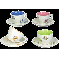 Керамическая посуда и кружки из стекла